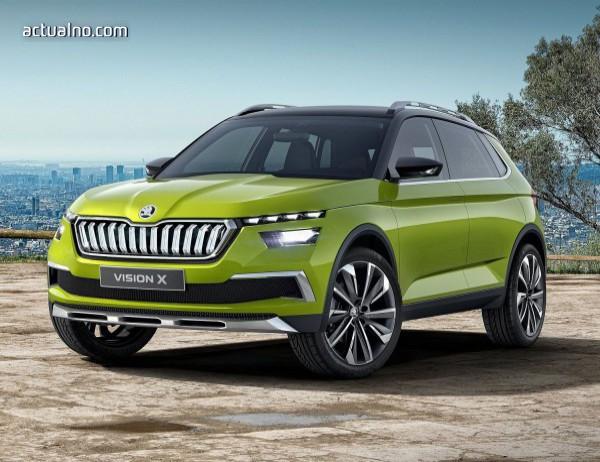Skoda ще покаже най-малкия си SUV през пролетта