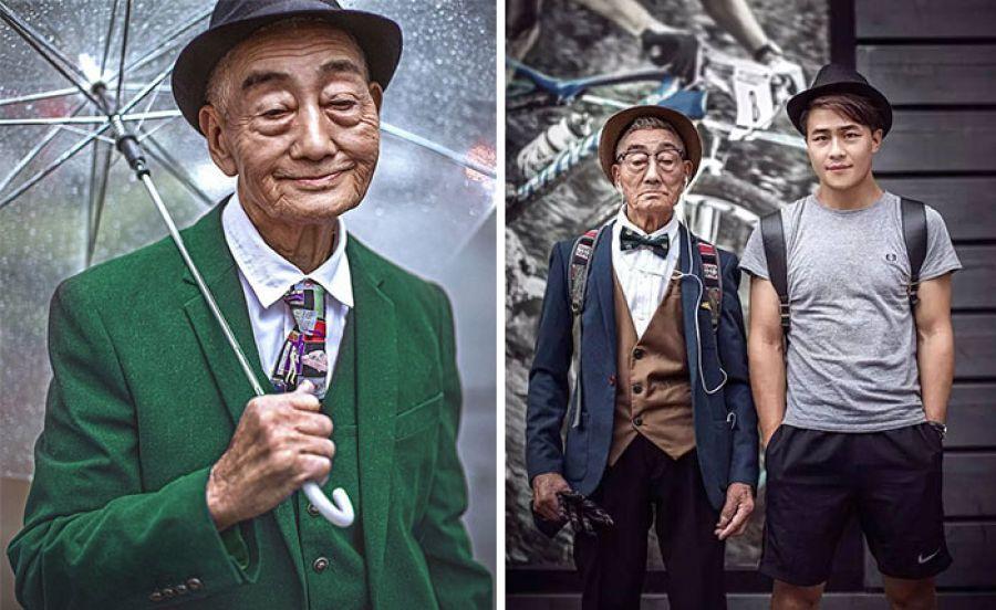 Момче превръща 85-годишния си дядо в модна икона