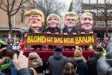 Политическата сатира тържествува на Rose Monday parade в Колон, Германия (+18)