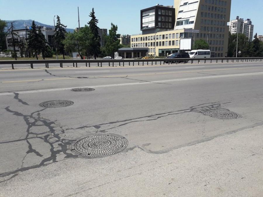 Цариградско шосе продължава да се разпада