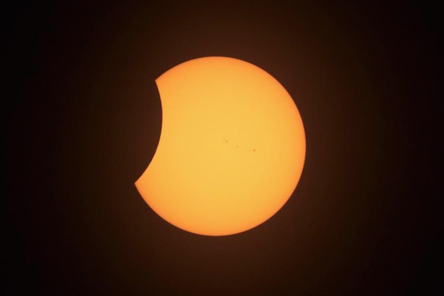 Уникални кадри от Великото американско затъмнение