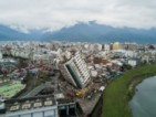 Земетресението в Тайван наклони сгради