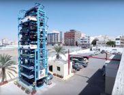 Умна система за паркиране качва колите на въртележка и пести място