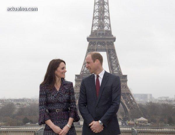 photo of Уилям и Кейт посетиха Париж 20 години след смъртта на  Даяна (СНИМКИ)