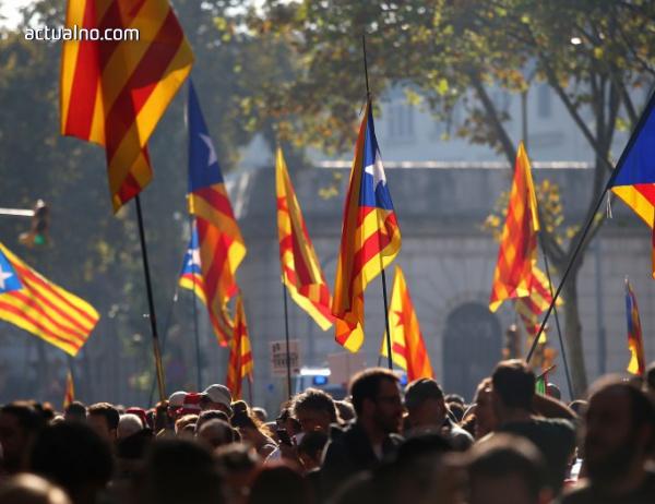 photo of Стотици протестират в Брюксел за каталунската независимост