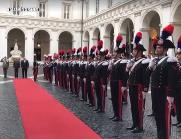photo of Посрещнаха Борисов в Рим с уникално фалшиво изпълнение на химна (Видео)