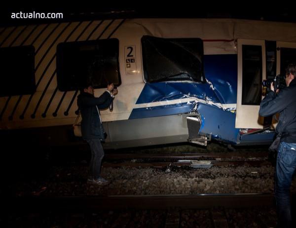 photo of Свлачище обърна три вагона от пътнически влак във Франция