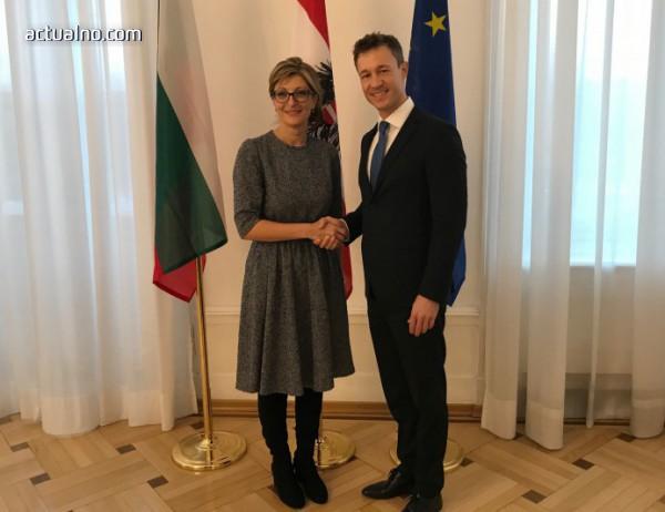 photo of Захариева разговаря с австрийския федерален министър по европейските въпроси