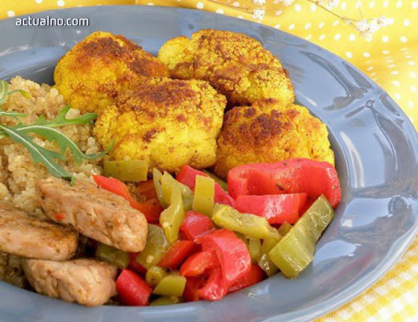 photo of Свинско бонфиле с киноа и зеленчуци