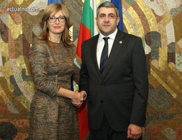 photo of Захариева прие генералния секретар по туризма към ООН Зураб Пололикашвили