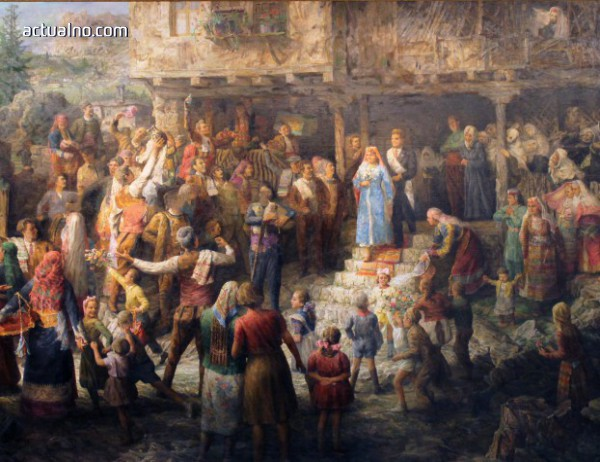 """photo of Показват скандалната картина """"Родопска сватба"""" след реставрация (СНИМКИ)"""
