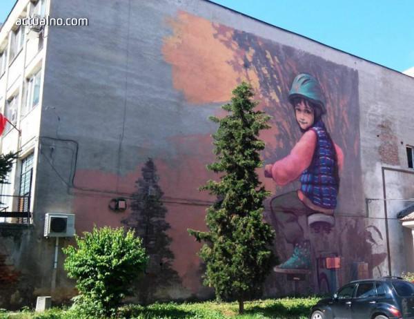 photo of Огромен графит краси Асеновград, за да напомня да пазим природата