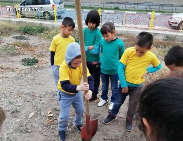 photo of Малки и големи доброволци в Тръстеник садят 1 000 фиданки летен дъб