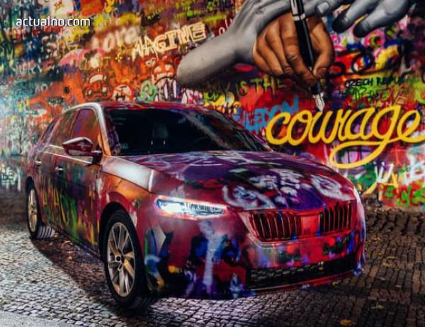 photo of Новият модел на Skoda украси стената на Джон Ленън